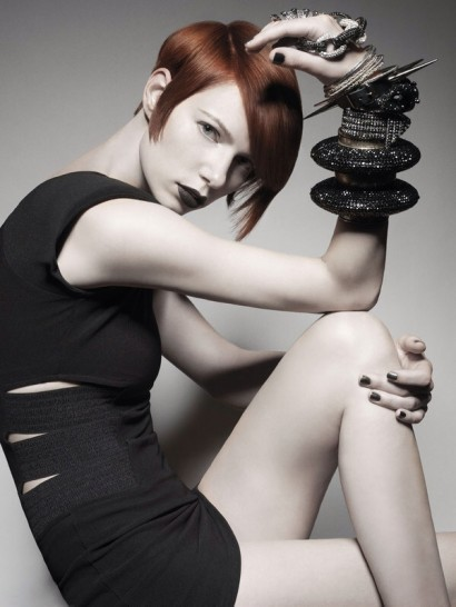 We think this color, cut and sleek gothic style by the amazing Tim Hartley of Sassoon is phenomenal.